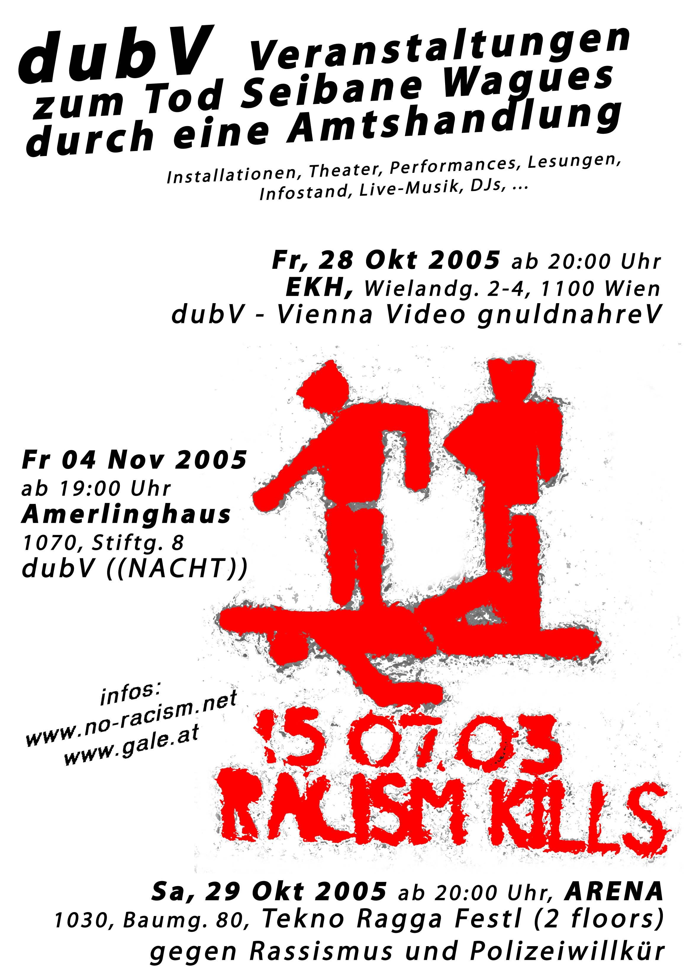 no-racism.net: dubV - Veranstaltung zum Tod Seibane Wagues durch ...