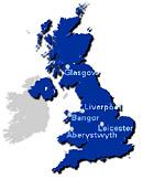 Landkarte großbritannien