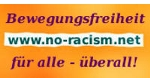 Bannerwerbunb: www.no-racism.net - Bewegungsfreiheit für alle - überall
