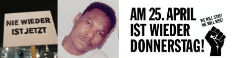 Am 25. April ist wieder Donnerstag - RIP Marcus Omofuma - Nie wieder ist jetzt