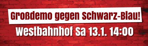 Neujahrsempfang: Großdemo gegen Schwarz-Blau!