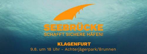 Seebrücke Klagenfurt - Sieben Brunnen und ein Hafen - Runde am 09. Aug 2018