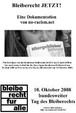 Bannerwerbunb: Dokumentation Konferenz Bleiberecht JETZT! am 4. April 2008 in Linz