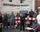 Protestaktion vor Parlament