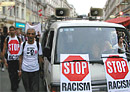Stop Racism-Banners on the Demonstration