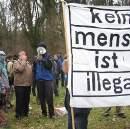 Kundgebung vor dem Ausschaffungsgefängnis Zürich Kloten