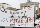 Wir lassen uns nicht täuschen. 16.11. Hunger-Streik geht weiter
