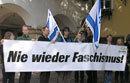 Nie wieder Faschismus - Transparent in Gumpoldskirchen