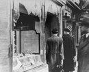 Zerstörtes jüdisches Geschäft