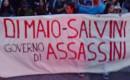 Protest gegen die mörderische Politik Salvinis am 20. Oktober 2018 in Trento