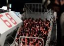 Mittelmeer, 12.06.2018: Zivile Seenotrettungsorganisationen dürfen nicht an ihrer Arbeit gehindert werden. Das Recht auf Leben gilt auch auf Hoher See. FOTO: Kenny Karpov/SOS MEDITERRANEE