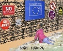 Cartoon von Jean Gouders: Fortress Europe