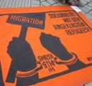 Smash §114 FPG - Solidaritaet mit den angeklagten Refugees!