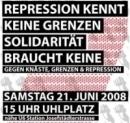 Repression hat keine Grenzen, Solidarität braucht keine!
