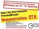 Familien & FreundInnen gegen Abschiebung - Aktionstage vom 26. - 28. September 2012