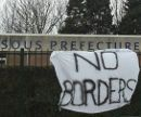 No Borders -- Protest in Calais, March 11, 2010