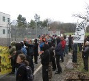 Protest outside and inside Kloten deportation prison, March 21, 2010
