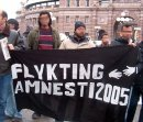 Manifestation for refugee rights in Sweden, 27 March 2006
