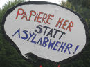 'Papiere her statt Asylabwehr' - Demonstration am 19. Oktober 2010 in Wien