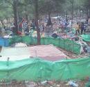Praying spot of the raided Affra Camp around Nador. Credit: L'Association Marocaine des Droits Humains (AMDH)