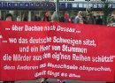 Der Porzess in Magdeburg wird von Protesten begleitet.