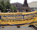 Kundgebung für die Abschaffung von Abschiebehaft und Abschiebungen am Paradeplatz in Mannheim