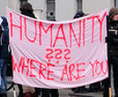 Humanity - where are you??? Solikundgebung am 13.01.2013 vor dem PAZ Hernalser Gürtel in Wien.