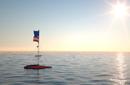 Bild einer Rettungsinsel im Meer