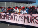 Que Tombent Les Murs - Demonstration for open boders on 08. Aug 2015 in Calais