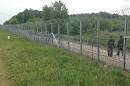 Fence at the border between Hungary and Serbia.