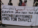 European Union finish your job - protest of the Choucha refugees in Tunis.