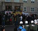 Vor dem Dessauer Polizeirevier am 08. dez 2008, Foto von Björn Kietzmann