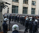 Heavy police against protest on September 25, 2013.
