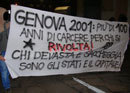 spontaneous demonstration in genova after the court sentence