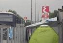 Das ehemalige EKO-Camps bei Polykastro in Griechenland, nahe der Grenze zu Mazedonien.
