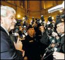 David Irving beim Prozess in Wien