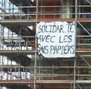 solidarite avec les sans papiers - transpaent in Calais, 11. Mar 2010