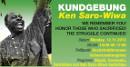 Kundgebung in Wien - Gedenken an Ken Saro Wiwa