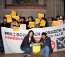 Flücthlingsprotest in der Votivkirche in Wien, 18. Dezember 2012