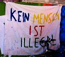 Kein Mensch ist illegal - Kundgebung gegen Abschiebung am 3. Februar 2011 in Innsbruck
