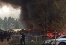 Fire in Brezice Camp where refugees were forced to wait on their way through the balkans