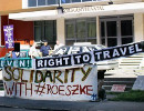 Right to Travel - Solidarity with Röszke - Protest in front of Courthouse