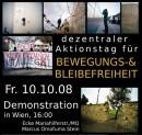 Fr, 10.10.2008, 16:00: Demo für Bewegungsfreiheit in Wien