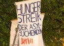 Hungerstreik der Asylsuchenden am Rindermarkt in München, Foto: koernerfresser, flickr