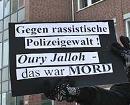 Gegen rassistische Polizeigewalt! Oury Jalloh - das war Mord -- Demonstration am 7. Jänner 2009 in Dessau