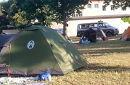 Zelte im Erstaufnahmezentrum Traiskirchen - viele Flüchtlinge haben keine feste Unterkunft.