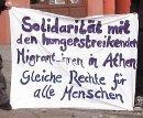 Solidarität mit den Hungerstreikenden ... Kundgebung vor der griechischen Botschaft in Berlin, 8. Februar 2011.