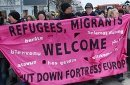 Refugees Migrants Welcome - Shut Down Fortress Europe