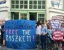 Freiheit für die Röszke 11 - Soliaktion in Wien