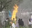 Riots in Moria detention centre, Lesvos.